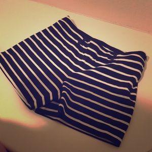 Nautical Striped Shorts